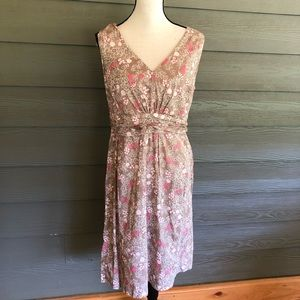 BODEN Pink Floral Sleeveless Cotton Dress Size 10